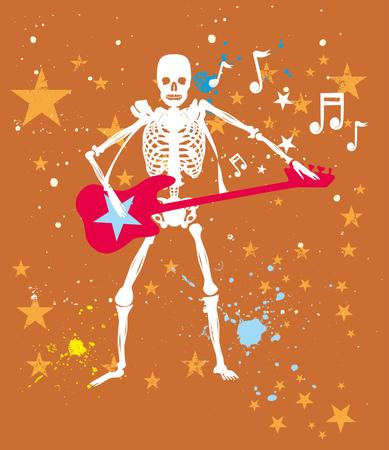 rock star guitar vector art Illustration