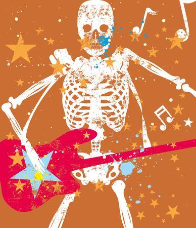 rock star guitar vector art Vector