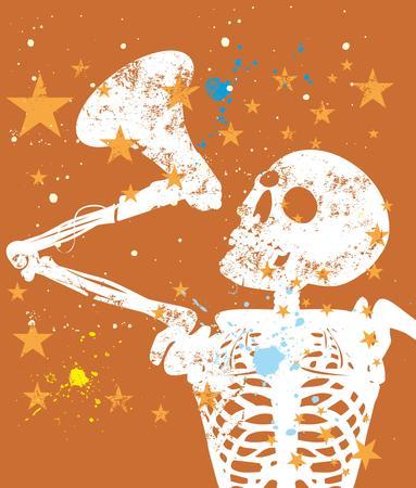transcribe: rock star guitar vector art Illustration