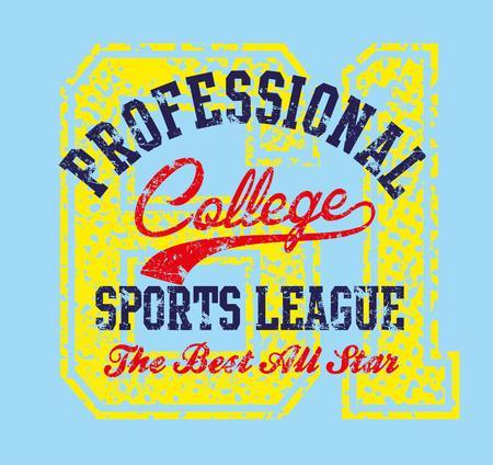 american college sports vector art Stock Vector - 23153756