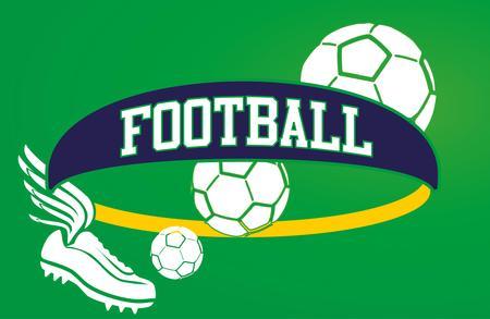 brazilian football retro style vector art Vector