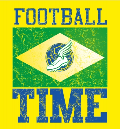 brazilian football retro style vector art Stock Vector - 23158550