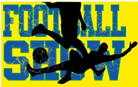 brazilian football retro style vector art Vector