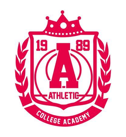 college sports badge vector art Illustration