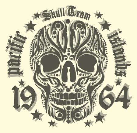 tattoo tribal skull vector art