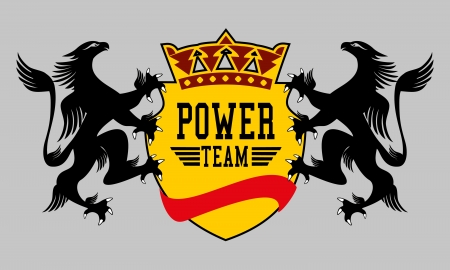 eagle power team vector art