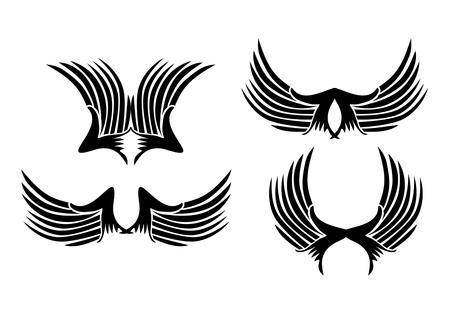 tattoo tribal wings vector art Vector