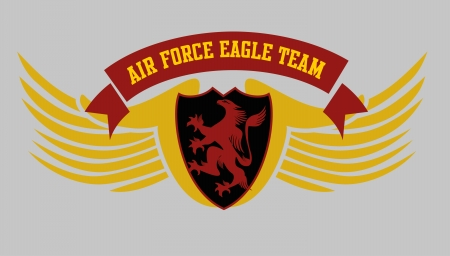 eagle power team vector art Vector