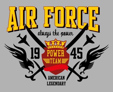 air force eagle team vector art Illustration