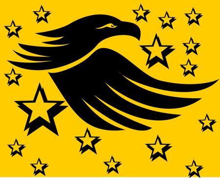prophetic: tattoo tribal eagle vector art