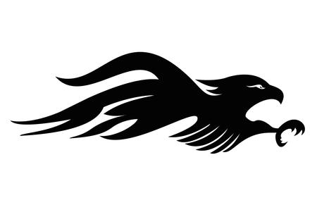 tattoo tribal eagle vector art Vector
