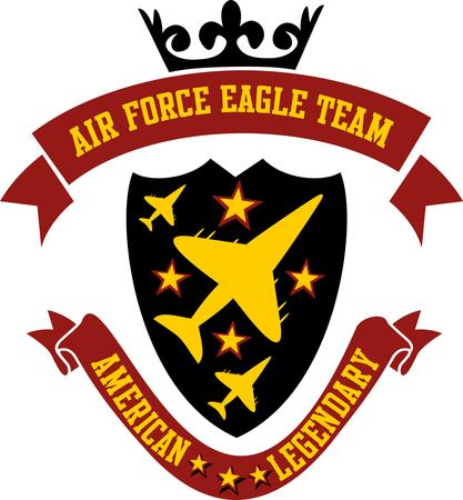 air force eagle team vector art Vector