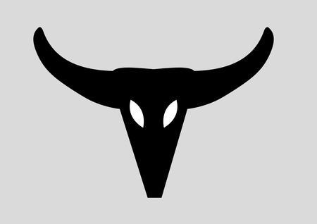 cow skull icon vector art