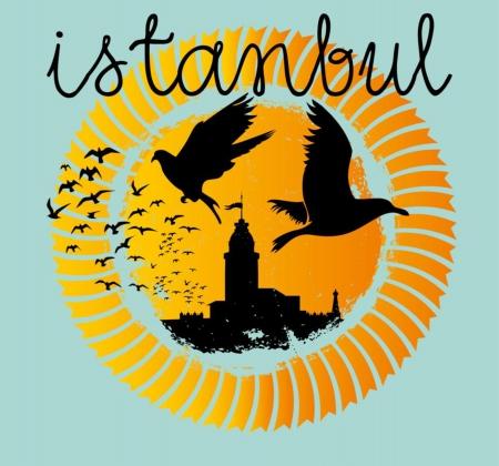 zeitlos: istanbul Gro�stadt Vektor-Kunst