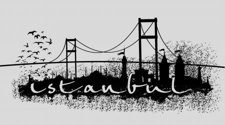 istanbul: istanbul big city vector art