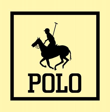 college polo player vector art Illusztráció