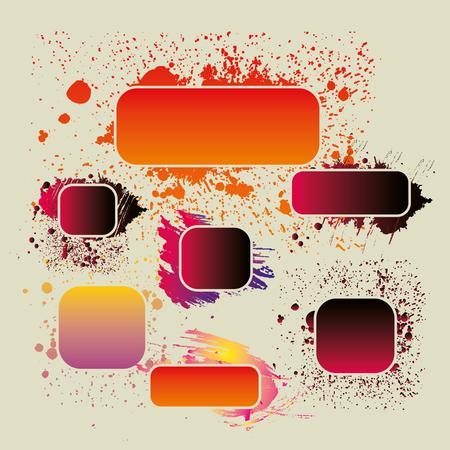 80 s: grunge splash badge vector art
