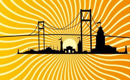 zeitlos: istanbul gro�en Stadt Vektor-Kunst Illustration