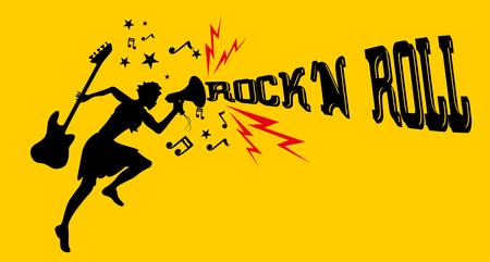 rock music dancer girls vector art Vector