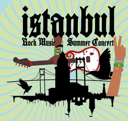 intertainment: istanbul rock music vector art Illustration