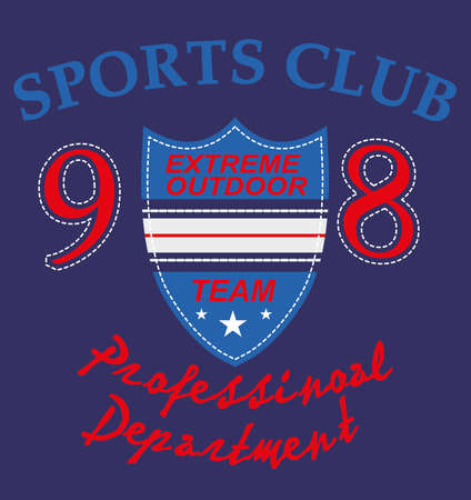 sports club badge vector art Vector