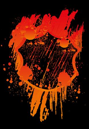 grunge splash badge vector art
