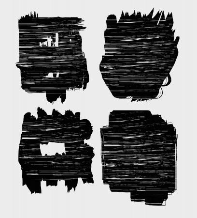 grunge circle brush strokes vector art