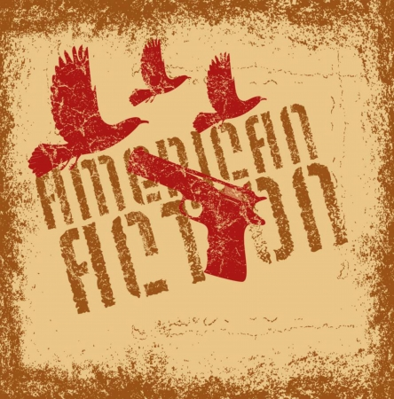 american retro gun vector art Vector