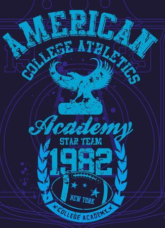 american college sports vector art Stock Vector - 23384749