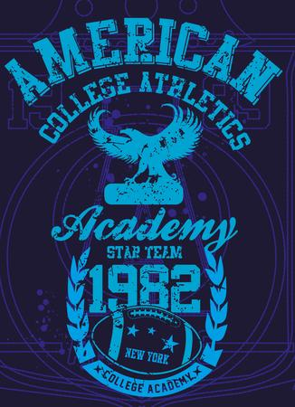 american college sports vector art Stock Vector - 23384749