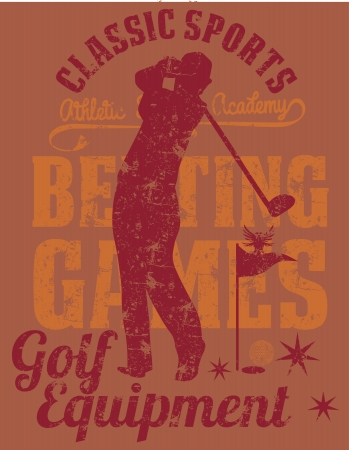 summer sports golf player vector art Vector