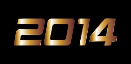 rear wing: golden horse happy new year 2014 vector art