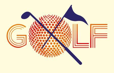 dimple: golf sports equipment art Illustration