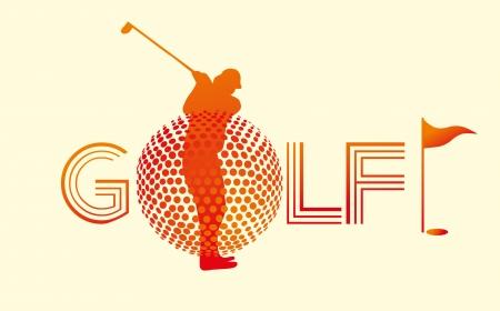 summer sports golf player art Illustration