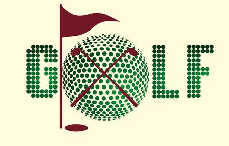 sward: attrezzature sportive golf Vettoriali