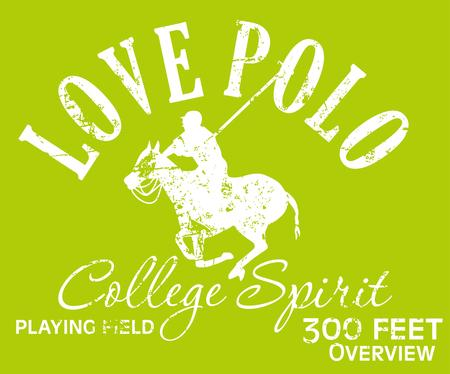 college polo player vector art Illustration