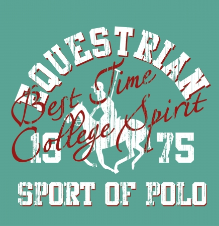 derby hats: college polo player Illustration