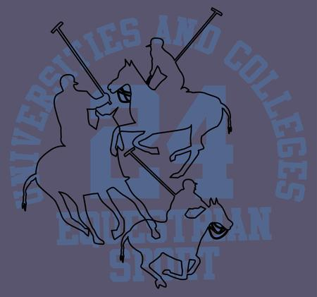 college polo player Illustration