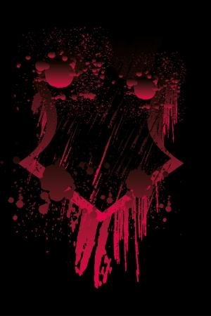 80 s: grunge splash badge  Illustration