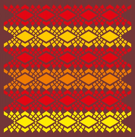 ethnic textile design art Illustration