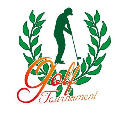 summer sports golf player vector art