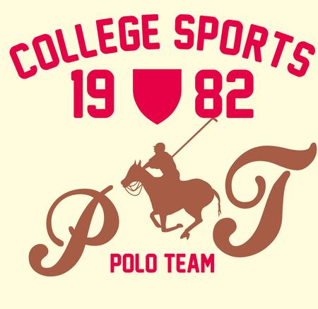 derby hats: college polo player vector art Illustration