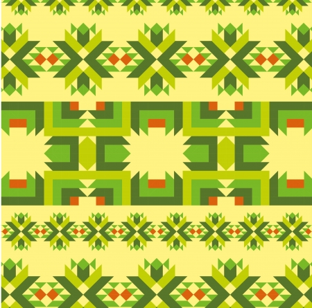 ethnic textile design vector art Vector