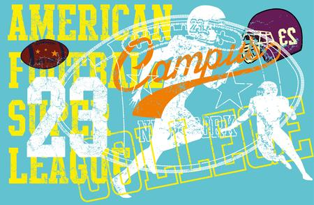 american college sports vector art Vector