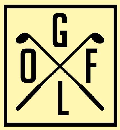 sport club: golf sports equipment vector art