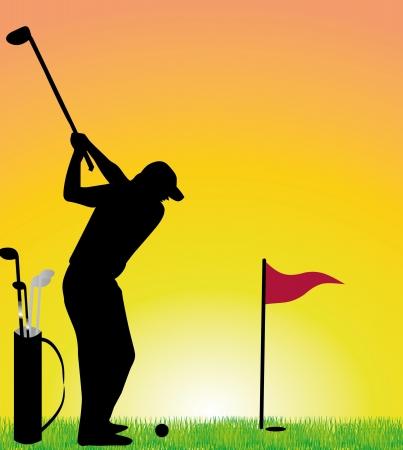 summer sports golf player vector art Vector