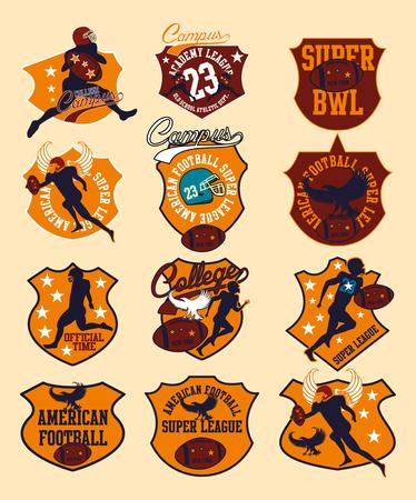 american football college team vector art