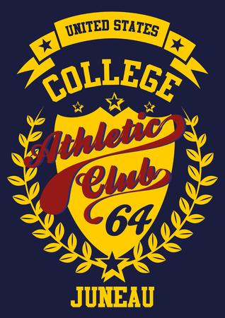 athletic college label art Stock Vector - 29393039