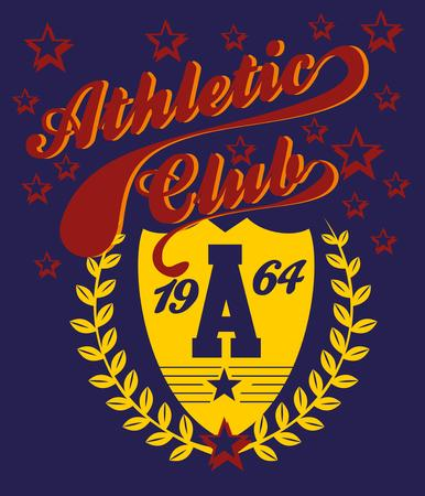 athletic college label art