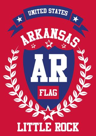 united state arkansas city art Иллюстрация
